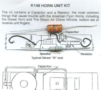 American Flyer Trains Wiring Diagrams http://ioffer.com/i/AMERICAN-FLYER-GILBERT-HORN-REPAIR-KIT-137347839